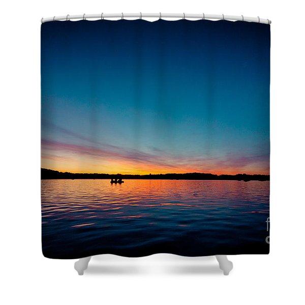 Sunrise Above Lake Water Summer Time Latvia Ezera Skanas Shower Curtain