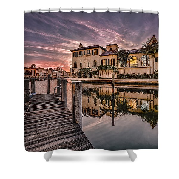 Sunrise At Naples, Florida Shower Curtain