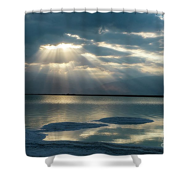 Sunrise At The Dead Sea Shower Curtain