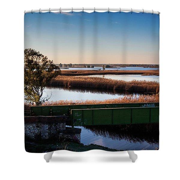 Sunrise In The Ditch Burlamacca Shower Curtain