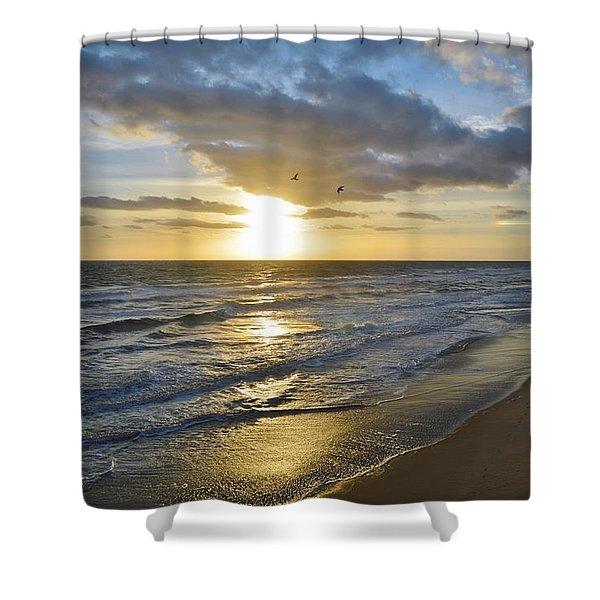Sunrise On The Banks  Shower Curtain