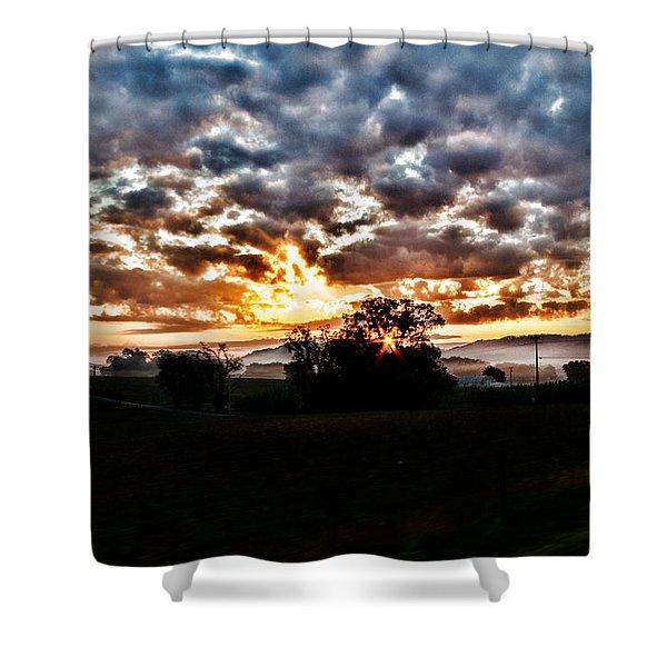 Sunrise Over Fields Shower Curtain