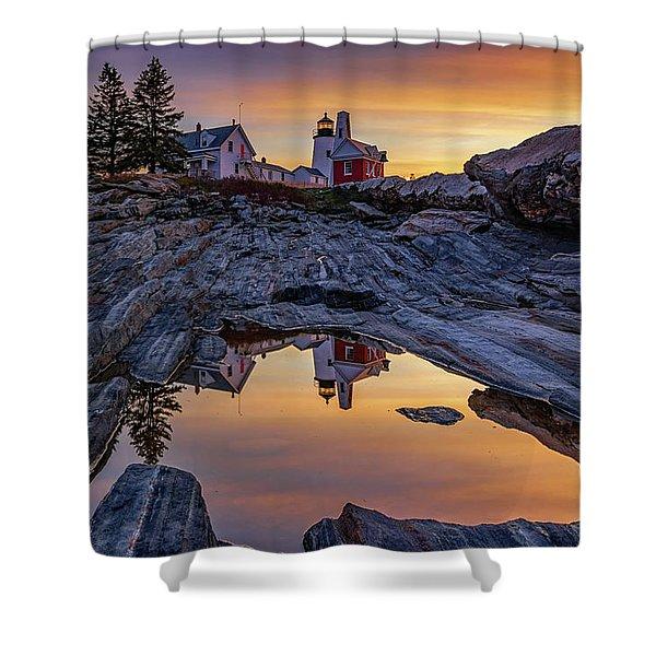Sunrise At Pemaquid Point II Shower Curtain