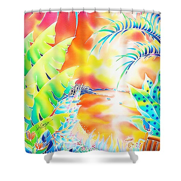 Sunset Cocktail Shower Curtain