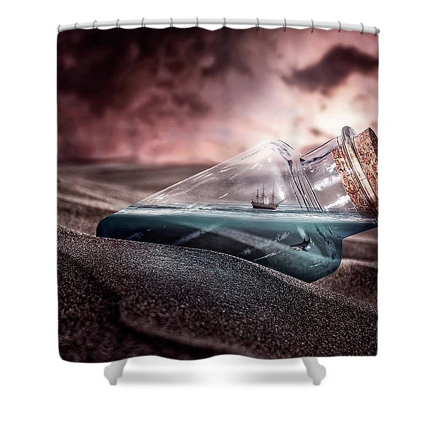 Sunset Message Shower Curtain