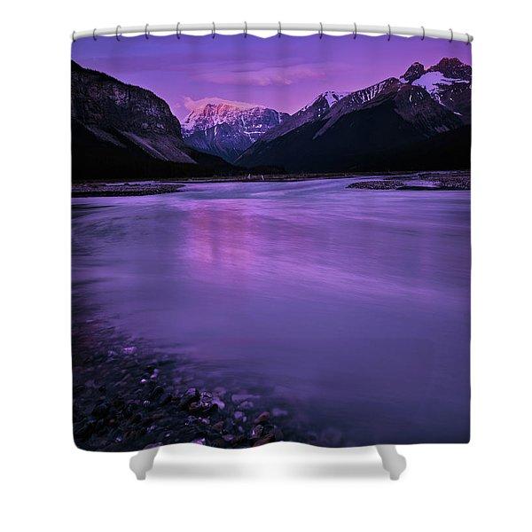 Sunwapta River Shower Curtain