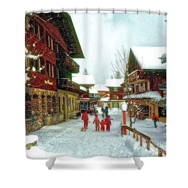 Switzerland Alps Shower Curtain