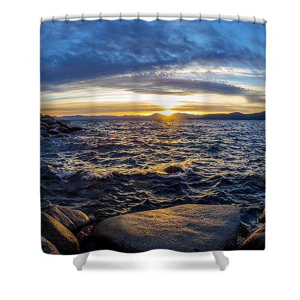 Tahoe Sunset Shower Curtain