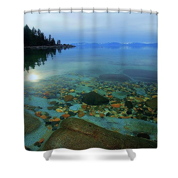 Shower Curtain featuring the photograph Tahoe Twilight by Sean Sarsfield