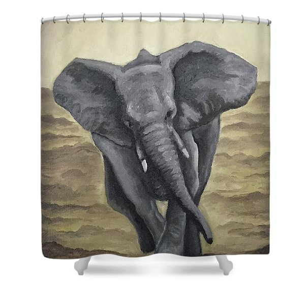 Taking Charge  Shower Curtain