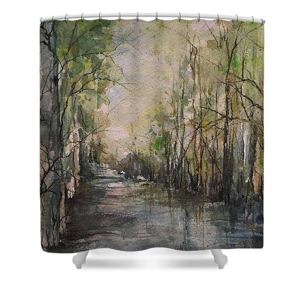 Bayou Liberty Shower Curtain