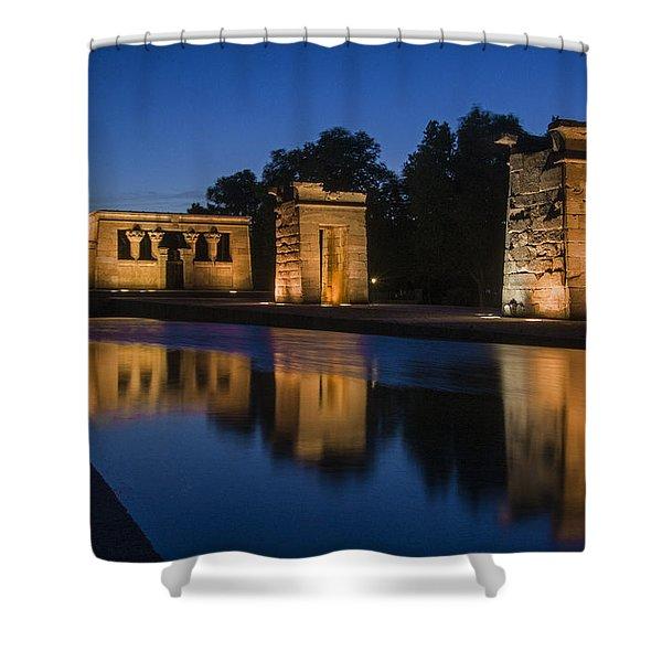 Templo De Debod Shower Curtain