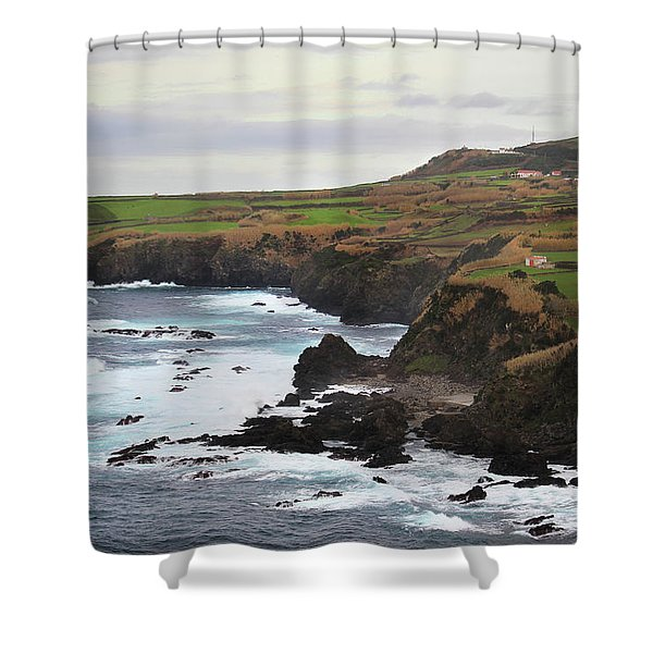 Terceira Coastline Shower Curtain