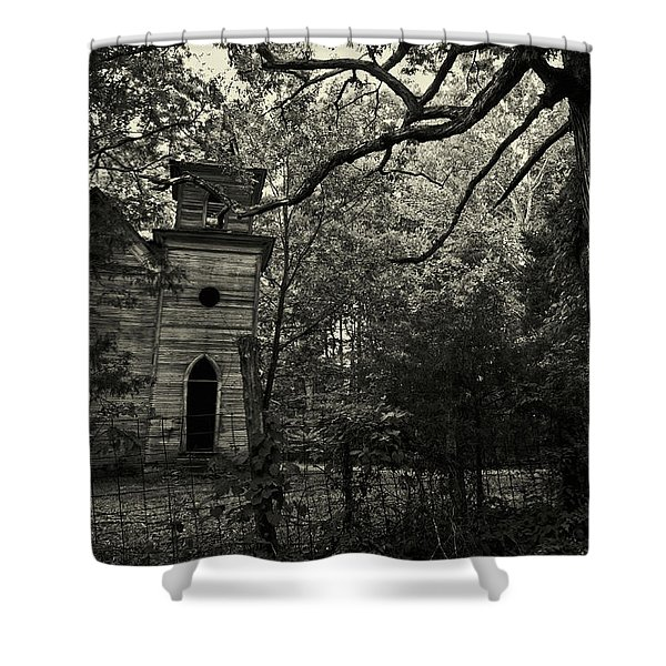 The Abandoned Church Shower Curtain
