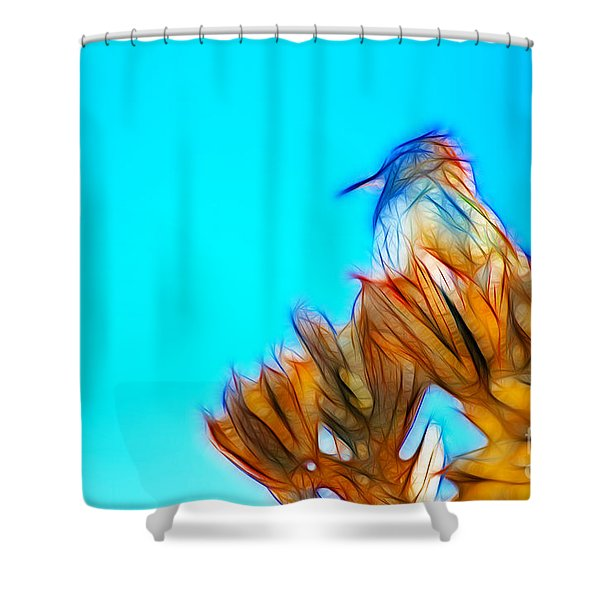 The Cactus Wren Shower Curtain