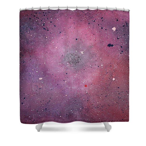 Shower Curtain featuring the painting the Calm by Michael Lucarelli
