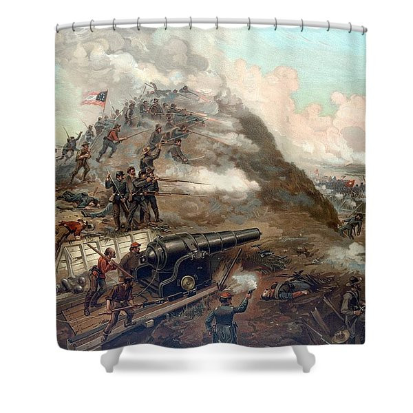 The Capture Of Fort Fisher Shower Curtain