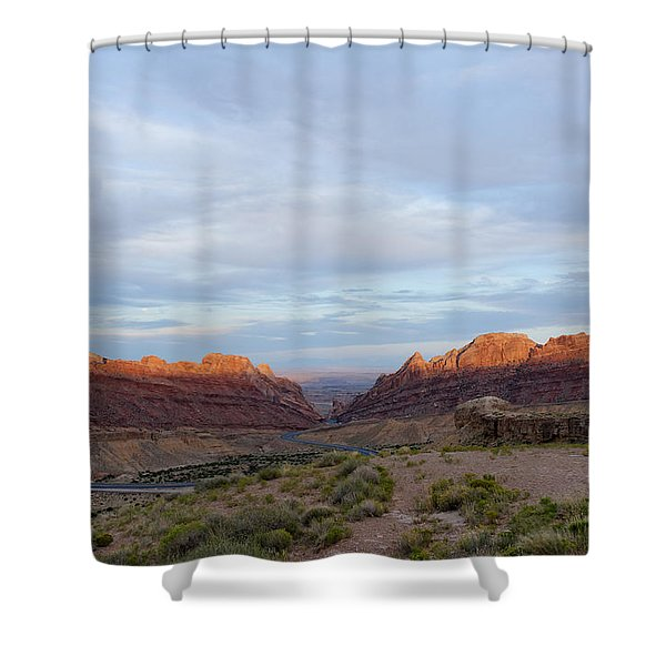 The Castles Near Green River Utah Shower Curtain