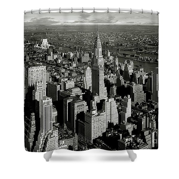 The Crysler Building Shower Curtain