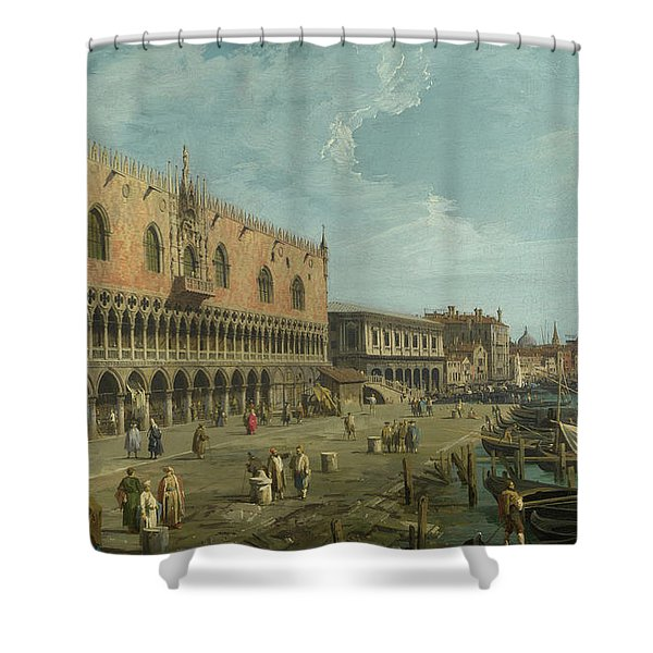 The Doge's Palace And The Riva Degli Schiavoni Shower Curtain