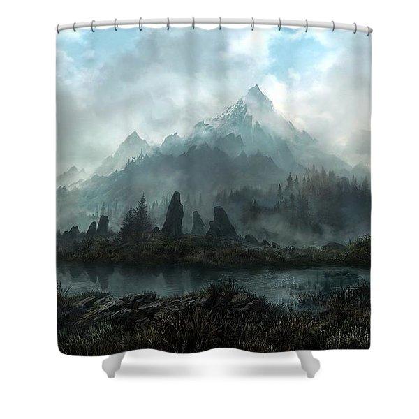 The Elder Scrolls V Skyrim Shower Curtain