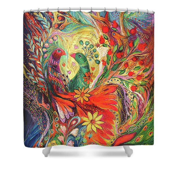 The Flowers And Fruits Shower Curtain