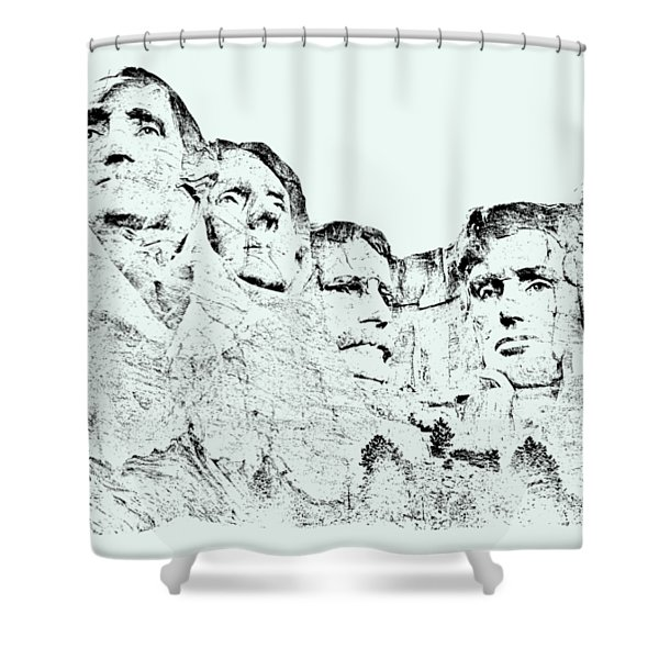 The Four Presidents Shower Curtain