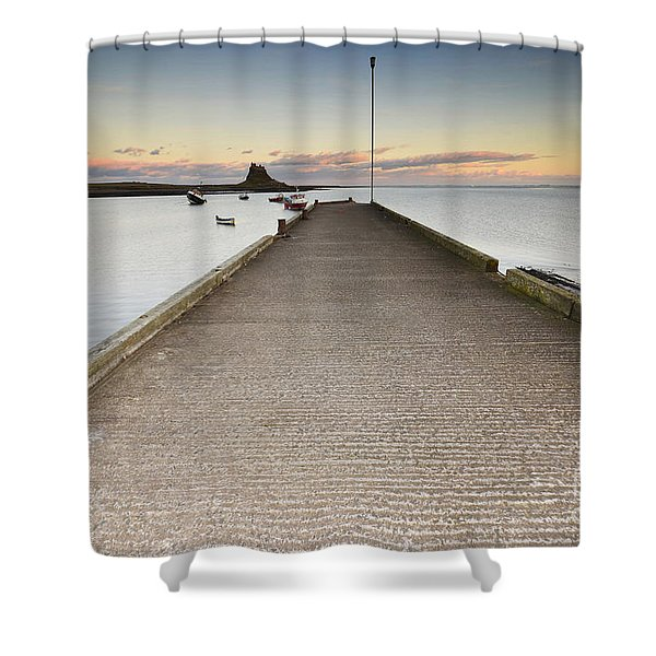 The Holy Island Of Lindisfarne Shower Curtain