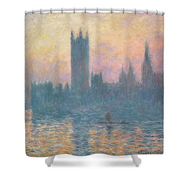 The Houses Of Parliament  Sunset Shower Curtain