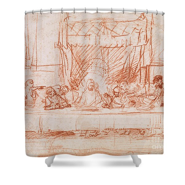 The Last Supper, After Leonardo Da Vinci Shower Curtain