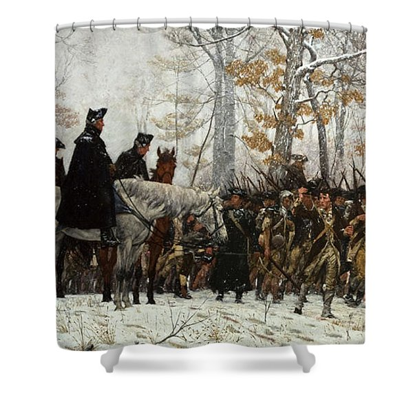 The March To Valley Forge Shower Curtain