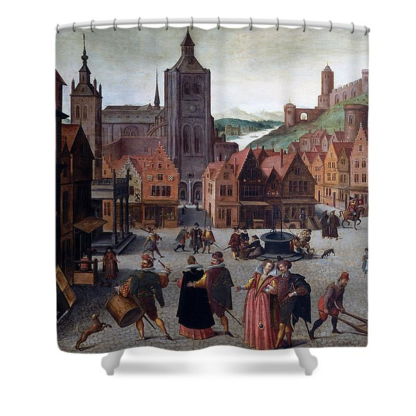 The Marketplace In Bergen Op Zoom Shower Curtain
