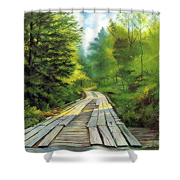 The Mcneely Bridge Shower Curtain