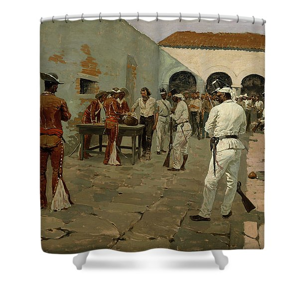 The Mier Expedition The Drawing Of The Black Bean Shower Curtain