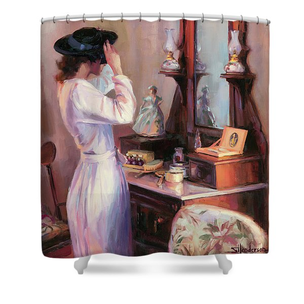 The New Hat Shower Curtain