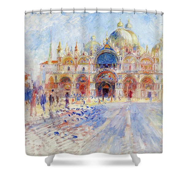 The Piazza San Marco, Venice, 1881 Shower Curtain