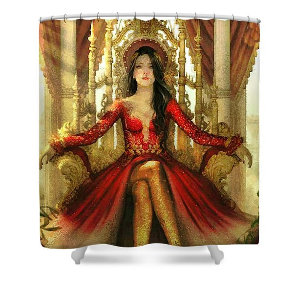 The Queen Of Westeros Shower Curtain