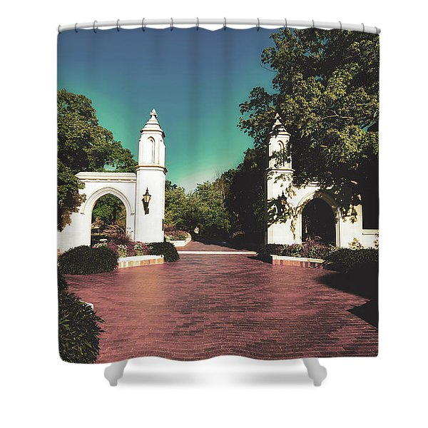 The Sample Gates Of Indiana University Shower Curtain