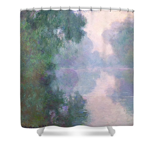 The Seine At Giverny, Morning Mists Shower Curtain