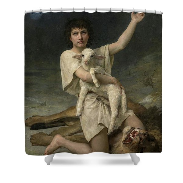 The Shepherd David Triumphant Shower Curtain