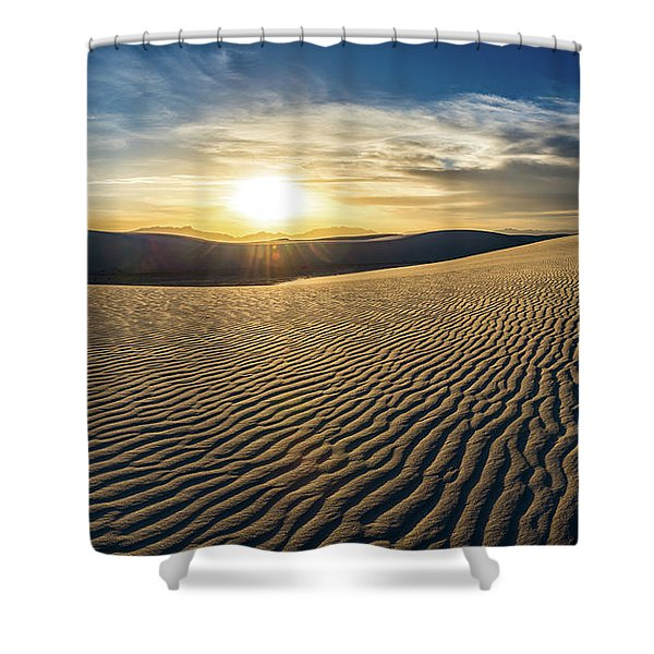 The Unique And Beautiful White Sands National Monument In New Me Shower Curtain