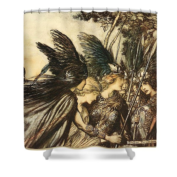 The Valkyrie Shower Curtain
