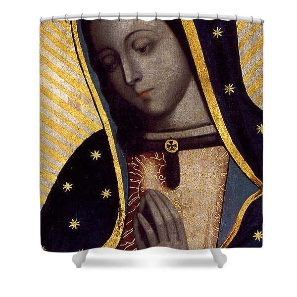 The Virgin Of Guadalupe Shower Curtain