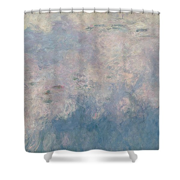 The Waterlilies  The Clouds Shower Curtain