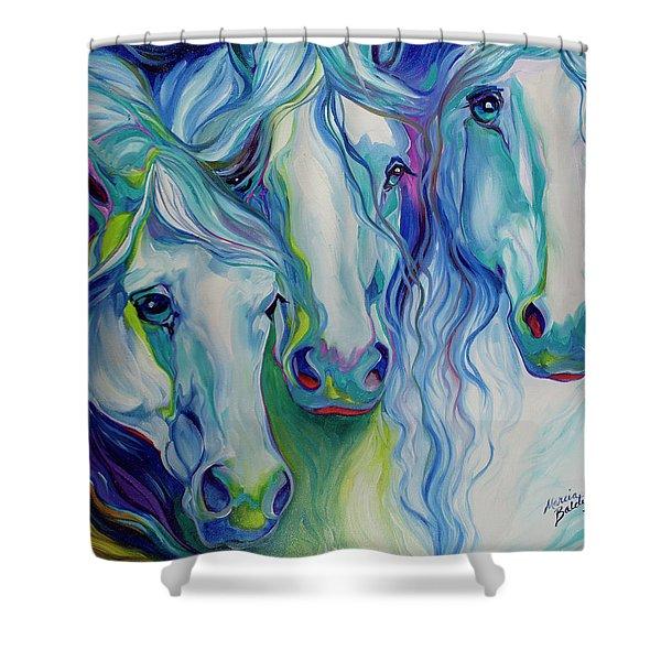 Three Spirits Equine Shower Curtain