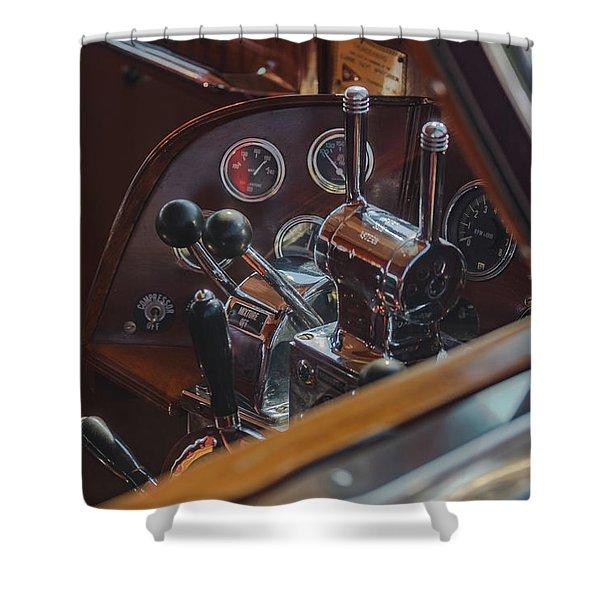 Thunderbird Helm Shower Curtain