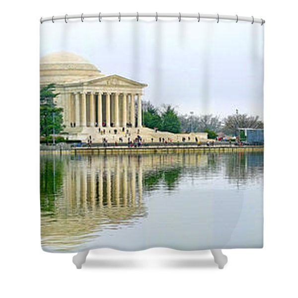 Tidal Basin With Cherry Blossoms Shower Curtain