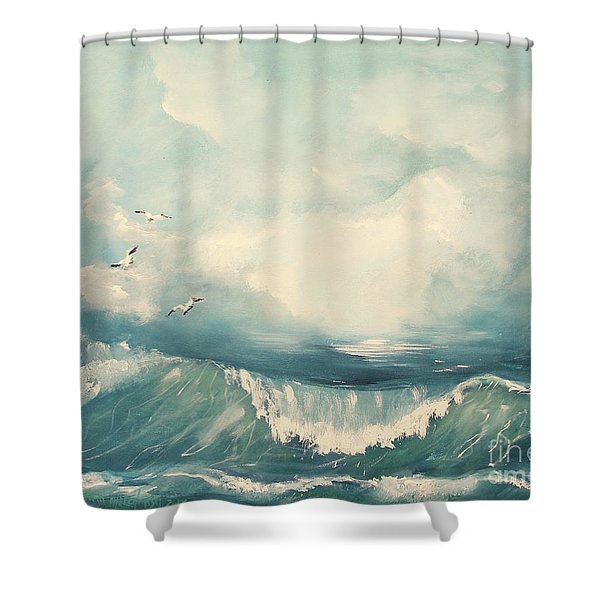 Tide Shower Curtain