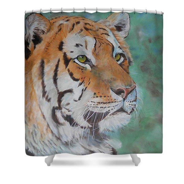 Tiger Portrait Shower Curtain