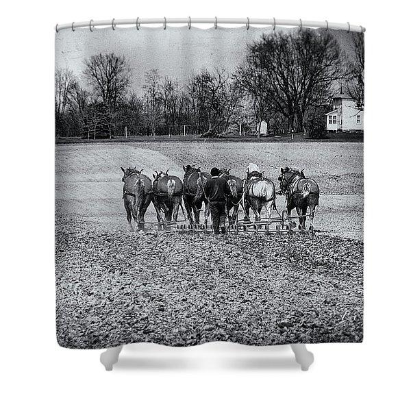 Tilling The Fields Shower Curtain